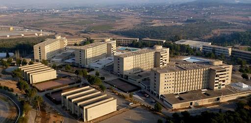 Vista aérea de la zona de residencias del Complejo Educativo de Cheste Cecheste