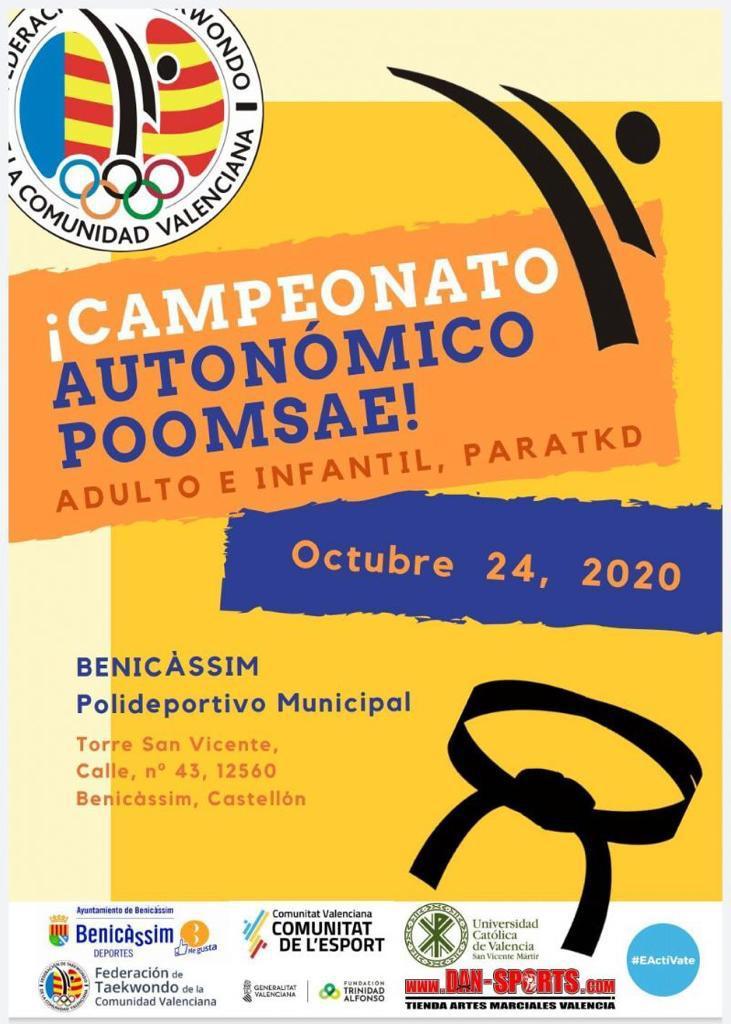 campeonato autonomico poomsae benicassim 2020