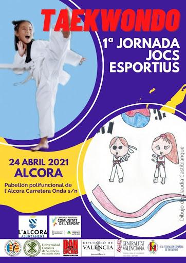 Cartel 1º Jornada Jocs Esportius Alcora Abril 2021